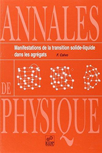 Manifestation de la transition solide-liquide (agregats) (French Edition): F. Calvo