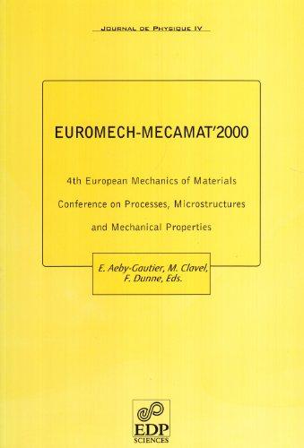 Euromech-Mecamat 2000 - 4th European Mechanics of: Collectif