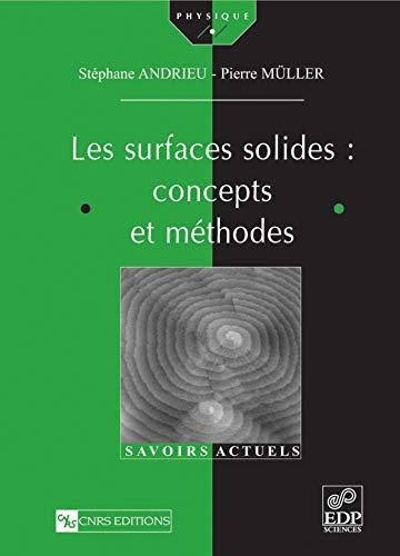 9782868837738: Les surfaces solides : concepts et méthodes