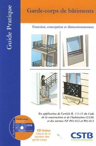 9782868913371: Garde-corps de b�timents : Fonction, conception et dimensionnement (1C�d�rom)