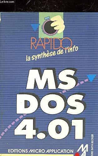 9782868993687: MS-DOS, version 4.01