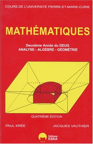 Mathematiques annee 2 deug (French Edition): Vauthier