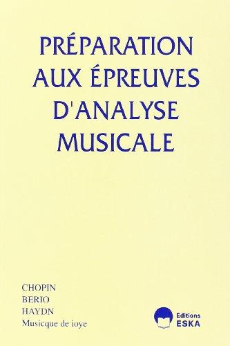 Preparation aux Epreuves Analyse Musical