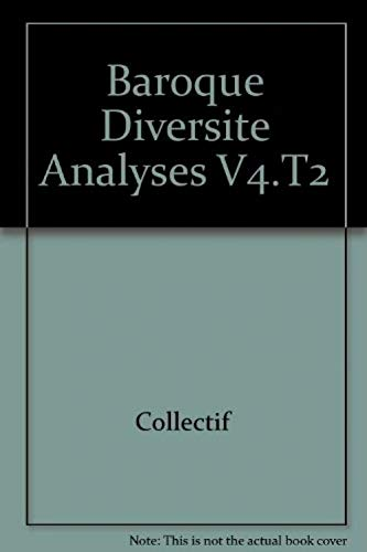 Baroque diversite analyses v4.t2: Collectif