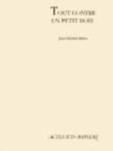 TOUT CONTRE UN PETIT BOIS: RIBES JEAN-MICHEL