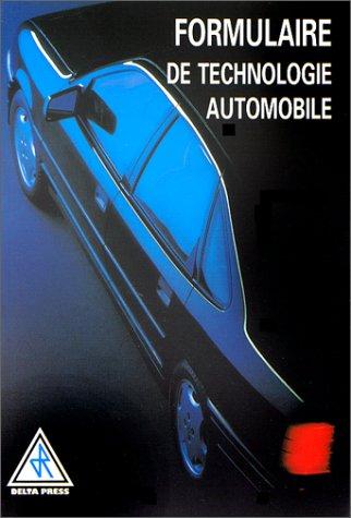 Formulaire de technologie automobile: Anonyme