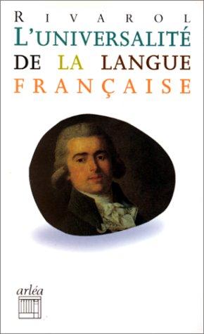 9782869593992: L'universalité de la langue française