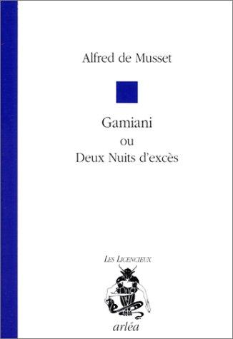 alfred de musset - gamiani ou deux nuits dexces - AbeBooks