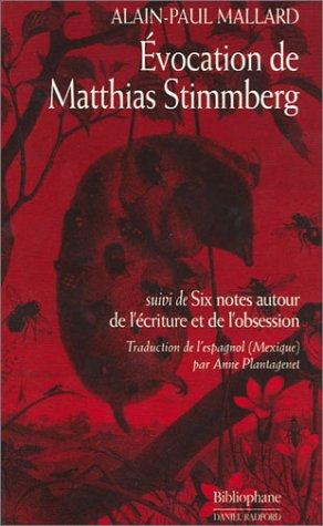 9782869700871: Evocation de Matthias Stimmberg, suivi de
