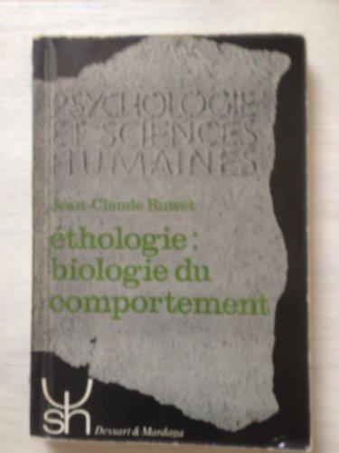 9782870090305: Ethologie: biologie du comportement