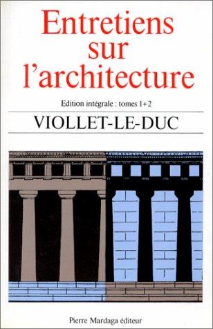 9782870090763: Entretiens sur l'architecture