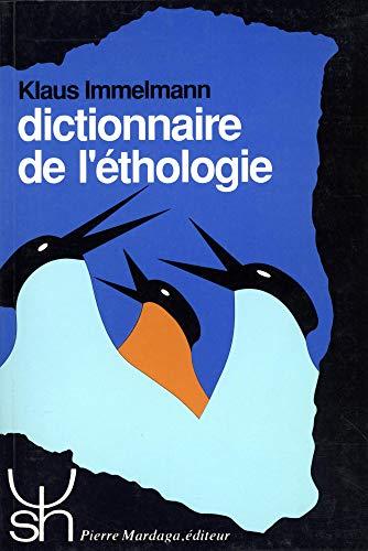 9782870093887: Dictionnaire de l'éthologie