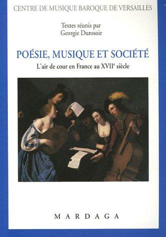 Poésie, Musique et Société (French Edition): Georgie ...