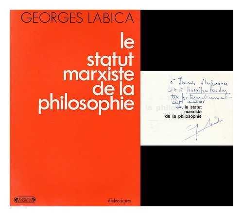 9782870270028: Le Statut marxiste de la philosophie