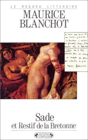 9782870271940: Sade et restif de la Bretonne