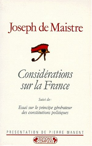 9782870272602: Consid�rations sur la France