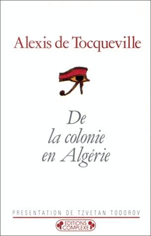 9782870272626: De la colonie en Algérie