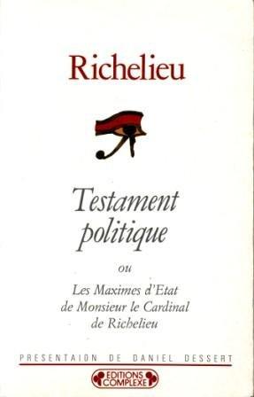 9782870273654: Testament politique