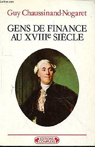 9782870274958: Gens de finance au XVIIIe siècle