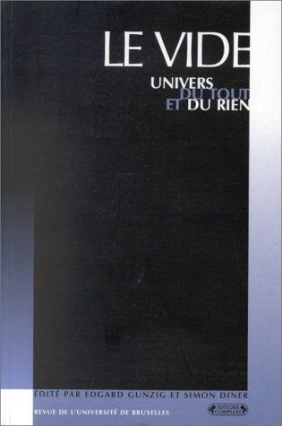 9782870277362: Le Vide. Univers du tout et du rien