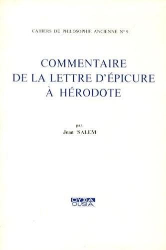 9782870600405: Commentaire de la lettre d'Epicure à Hérodote
