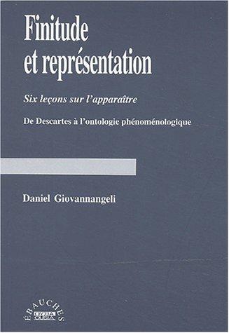 Finitude et représentation. : Six leçons sur: Daniel Giovannangeli