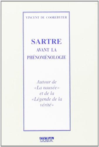 Sartre avant la phenomenologie ( diffuse VRIN ): Coorebyter, Vincent de