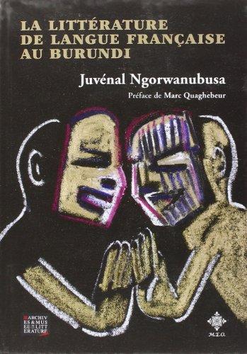 9782871680703: La littérature de langue française au burundi