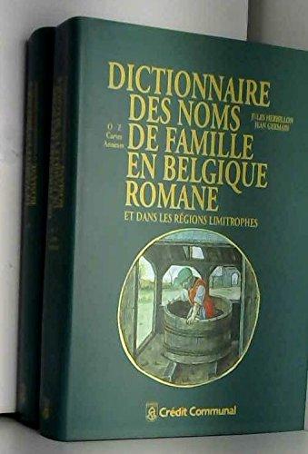 DICTIONNAIRE DES NOMS DE FAMILLE EN BELGIQUE: HERBILLON JULES &