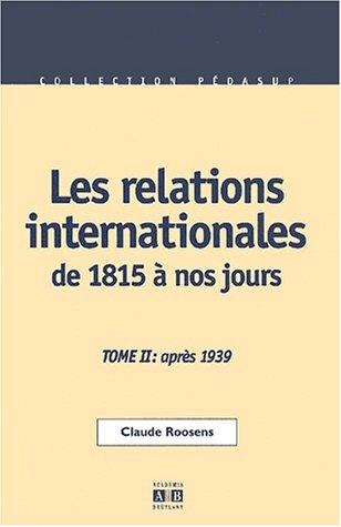 9782872096190: Relations internationales de 1815 a nos