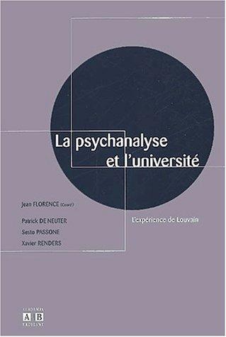 9782872096725: La psychanalyse et l'universit�. L'exp�rience de Louvain
