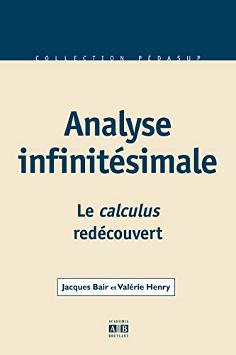 9782872099191: Analyse infinitésimale (French Edition)