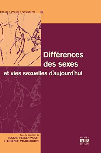 9782872099436: Diff�rences des sexes et vies sexuelles d'aujourd'hui