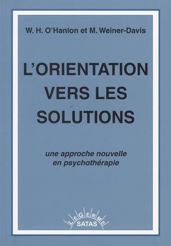 9782872930234: L'orientation vers les solutions