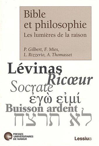 9782872991679: Bible et philosophie : Les lumières de la raison