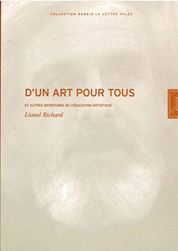 D UN ART POUR TOUS: RICHARD LIONEL