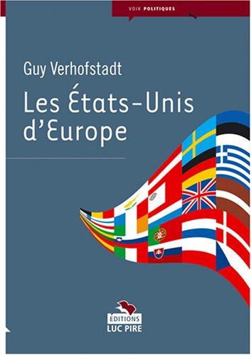 9782874156090: Les Etats-Unis d'Europe (French Edition)