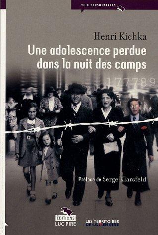 9782874156267: Une adolescence perdue dans la nuit des camps
