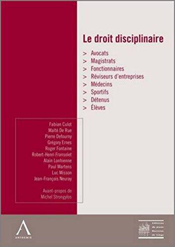 le droit disciplinaire
