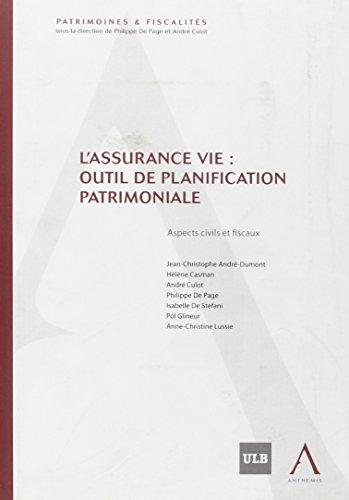 """""""l'assurance vie ; outil de planification patrimoniale"""": Collectif"""