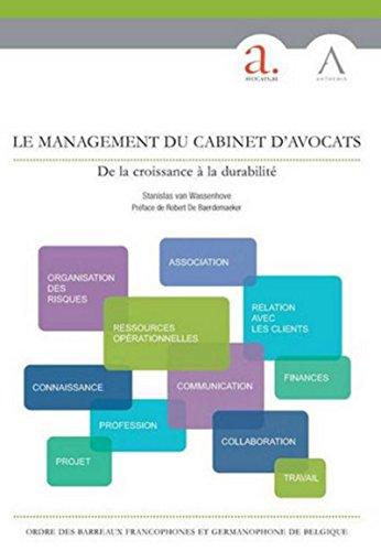 Le management du cabinet d'avocats: Stanislas Van Wassenhove