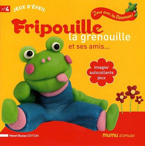 9782874770036: Fripouille la grenouille et ses amis... : Imagier, autocollants, jeux