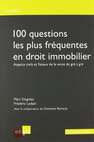 100 Questions les Plus Frequentes en Dro (French Edition)