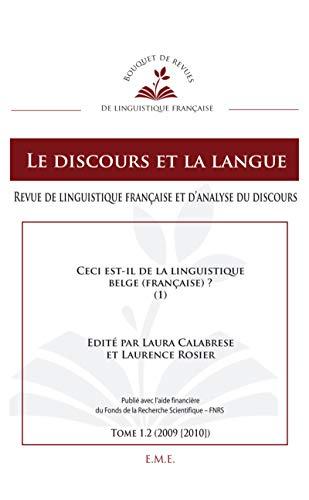 Ceci est-il de la linguistique belge (française)