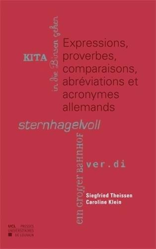 9782875580719: Expressions, proverbes, comparaisons, abréviations et acronymes allemands