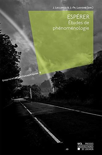 9782875583581: Espérer: Études de phénoménologie