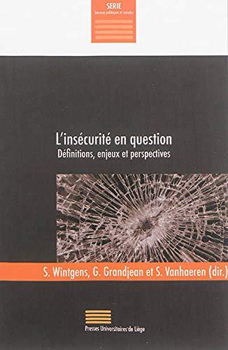 9782875620606: L'ins�curit� en question : D�finitions, enjeux et perspectives