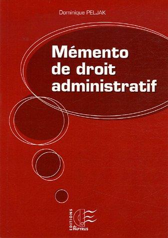 9782876031739: Memento de droit administratif