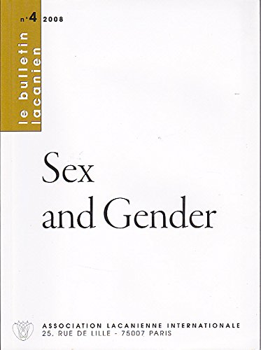 9782876120631: Sex and Gender -Le Bulletin Lacanien n° 4