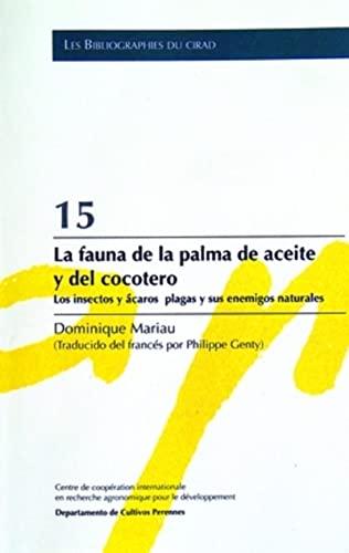 15- la fauna de la palma de aceite y del cocotero . los insectos y acaros plagas y sus enemigos ...